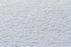 Achtergrond van de de winter de natuurlijke textuur met witte sneeuw stock foto
