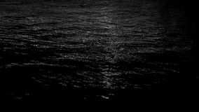 Achtergrond van de zwart-witte fonkeling van het lichtenwater stock videobeelden