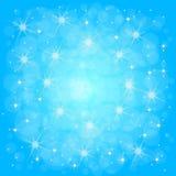 Achtergrond van Defocused de blauwe abstracte Kerstmis Stock Fotografie