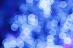 Achtergrond van Defocused de blauwe lichten Stock Foto's