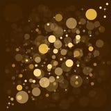 Achtergrond van Defocused de gouden abstracte Kerstmis Stock Foto's