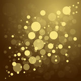 Achtergrond van Defocused de gouden abstracte Kerstmis Royalty-vrije Stock Foto