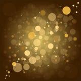 Achtergrond van Defocused de gouden abstracte Kerstmis Stock Afbeeldingen