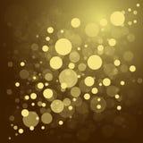 Achtergrond van Defocused de gouden abstracte Kerstmis Royalty-vrije Stock Afbeelding
