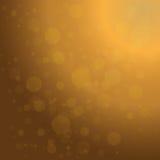 Achtergrond van Defocused de gouden abstracte Kerstmis Royalty-vrije Stock Fotografie
