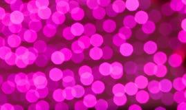 Achtergrond van Defocused de roze lichten Stock Fotografie