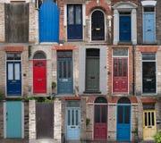 Achtergrond van deuren Stock Fotografie