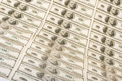 Achtergrond van dollarbankbiljetten Stock Foto