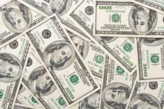Achtergrond van dollarbankbiljetten Stock Fotografie