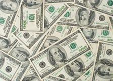 Achtergrond van dollarbankbiljetten Stock Afbeeldingen