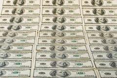 Achtergrond van dollarbankbiljetten Royalty-vrije Stock Afbeelding