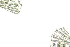 Achtergrond van 100 dollars diagonaal Stock Afbeeldingen