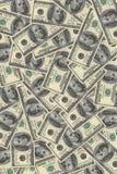 Achtergrond van dollars in groot Stock Afbeeldingen