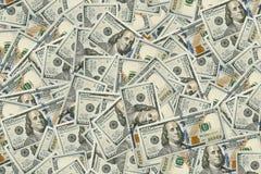Achtergrond van 100 dollarsrekeningen Royalty-vrije Stock Afbeeldingen
