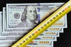 Achtergrond van 100 dollarsrekeningen Stock Afbeelding