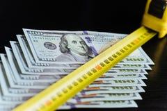 Achtergrond van 100 dollarsrekeningen Royalty-vrije Stock Foto