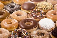 Achtergrond van Donuts Stock Afbeelding