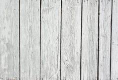 Achtergrond van doorstaan wit geschilderd hout Stock Foto's