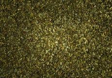 achtergrond van droge gehakte kruiden Stock Afbeeldingen