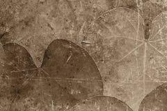 Achtergrond van droge oude bladeren van bruine kleur Royalty-vrije Stock Foto