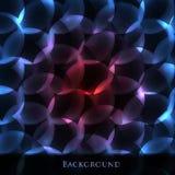 Achtergrond van een cirkel van kleurrijke gloed Stock Foto's