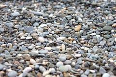 Achtergrond van een close-up van een stapel van kiezelstenen wordt gemaakt die Royalty-vrije Stock Afbeeldingen