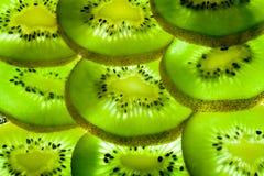 Achtergrond van een deel van kiwi door ringen. Stock Foto