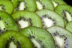 Achtergrond van een deel van kiwi door ringen. Royalty-vrije Stock Fotografie