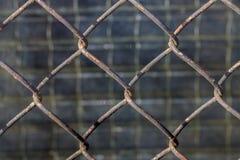 Achtergrond van een metaalrooster stock afbeelding