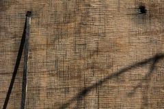Achtergrond van een oud houten ruw triplex royalty-vrije stock foto