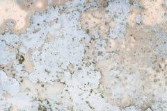 Achtergrond van een oude schilmuur Textuur met gebarsten verf Oude het wedden deklaag Stock Fotografie