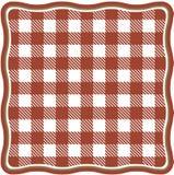 Achtergrond van een rode en witte cel tafelkleed stock afbeelding