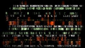 Achtergrond van effectenbeurs de financiële aantallen, voorraadlengte vector illustratie