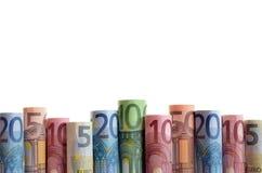 Achtergrond van euro geld Stock Afbeelding