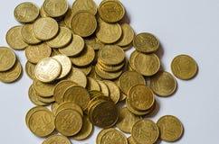 Achtergrond van euro rekeningen Ondiepe nadruk Stock Afbeeldingen