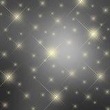 Achtergrond van fonkelings de grijze sterren Royalty-vrije Stock Foto's