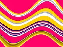 Achtergrond van frequentie de kleurrijke geometrische vormen Golven zoals vormen, abstracte achtergrond royalty-vrije illustratie