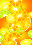 Achtergrond van fruit Royalty-vrije Stock Afbeeldingen