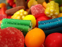 Achtergrond van geassorteerd suikergoed Royalty-vrije Stock Afbeeldingen