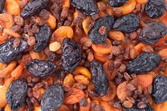 Achtergrond van gedroogd fruit stock afbeelding