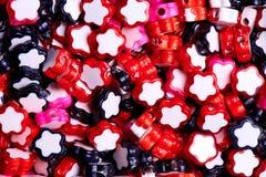 Achtergrond van gekleurd klein sterrenclose-up royalty-vrije stock foto