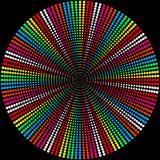 Achtergrond van gekleurde ballen op een zwarte royalty-vrije illustratie