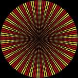 Achtergrond van gekleurde ballen van rood en geel vector illustratie