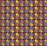 Achtergrond van gekleurde harten Royalty-vrije Stock Afbeelding
