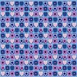 Achtergrond van gekleurde harten Stock Afbeelding
