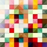 Achtergrond van gekleurde vierkanten royalty-vrije illustratie