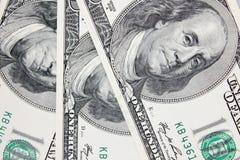 Achtergrond van geld (dichte omhooggaand van dollarrekening) Royalty-vrije Stock Foto