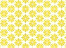 Achtergrond van gele bloemen Stock Fotografie