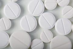 Achtergrond van geneeskrachtige tabletten Stock Fotografie
