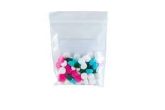Achtergrond van geneeskrachtige tabletten Stock Afbeeldingen